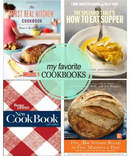 My Four Favorite Cookbooks