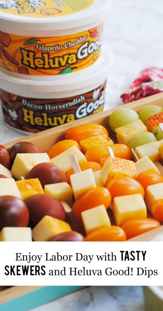 Enjoy Labor Day with Tasty Skewers and Heluva Good! Dip #ChipsDipsandTips #IC#ad