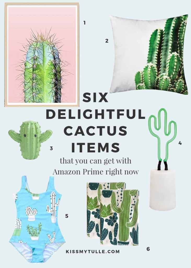 Don't have #FOMO Get one or ALL of these six delightful #cactus items with Amazon Prime RIGHT NOW