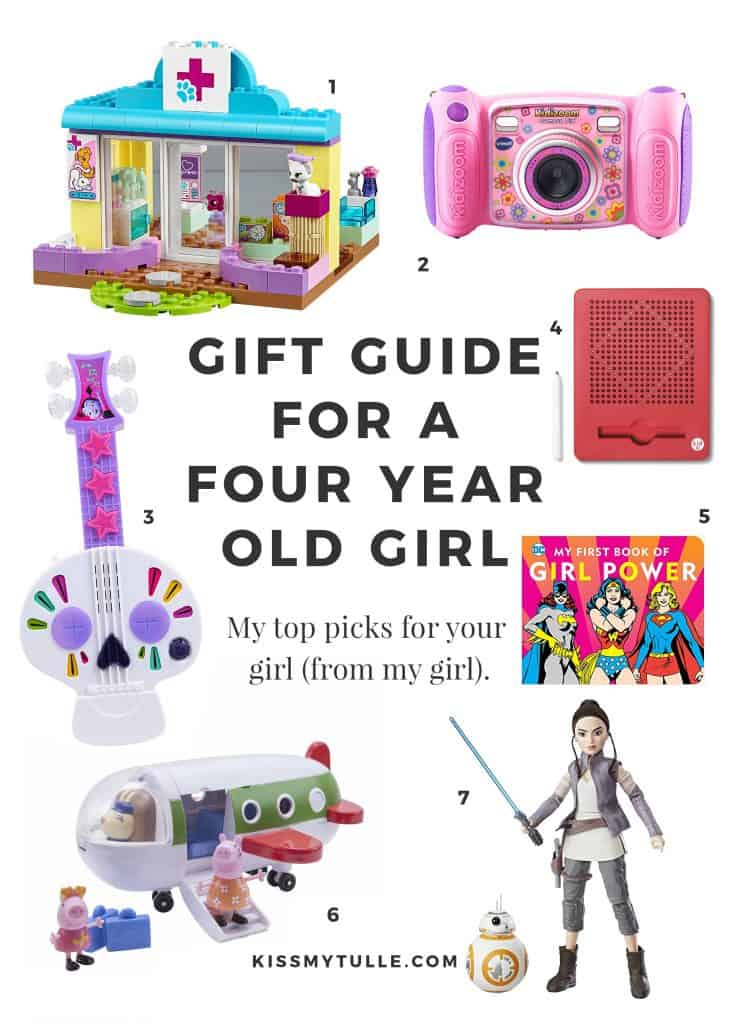 Gift Guide for a 4 Year Old Girl #Christmas #holiday #Santa #girl #shopping #presents #giftguide