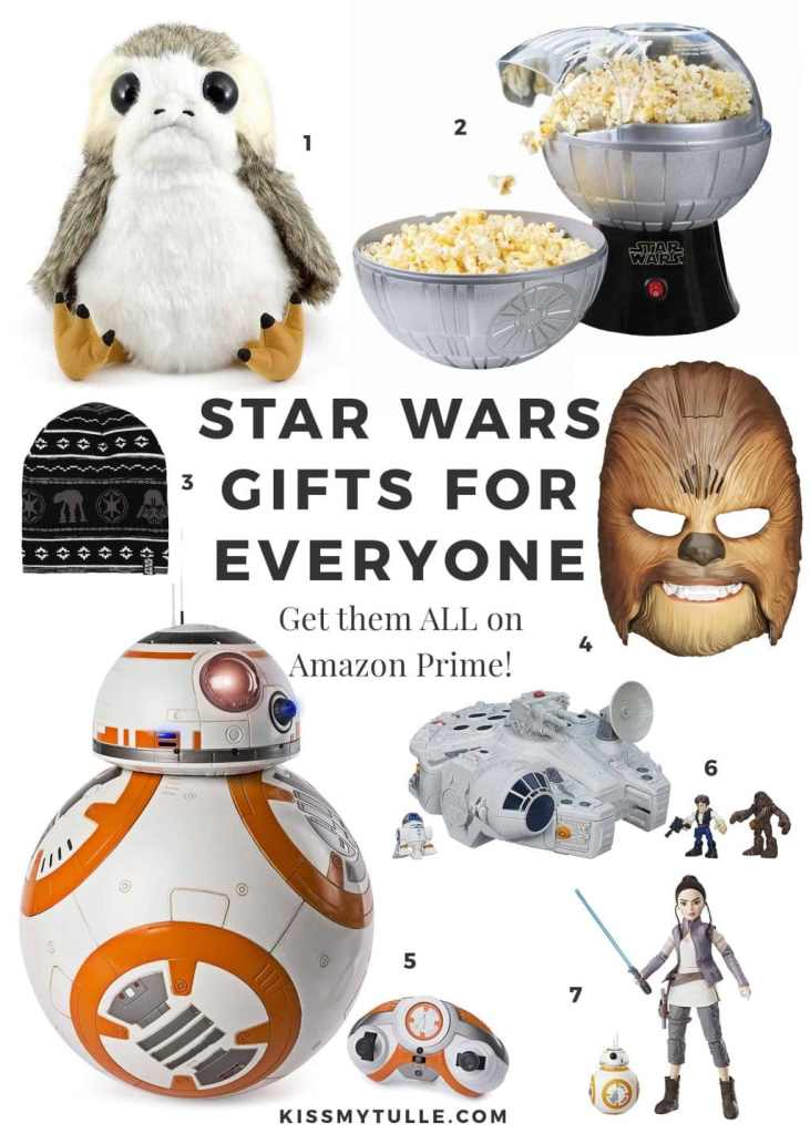 Star Wars Gift Guide for Everyone! And you can buy everything RIGHT NOW on Amazon Prime. #Christmas #MaytheFourthBeWithYou #maytheforcebewithyou #StarWars #holidays #shopping #giftguide