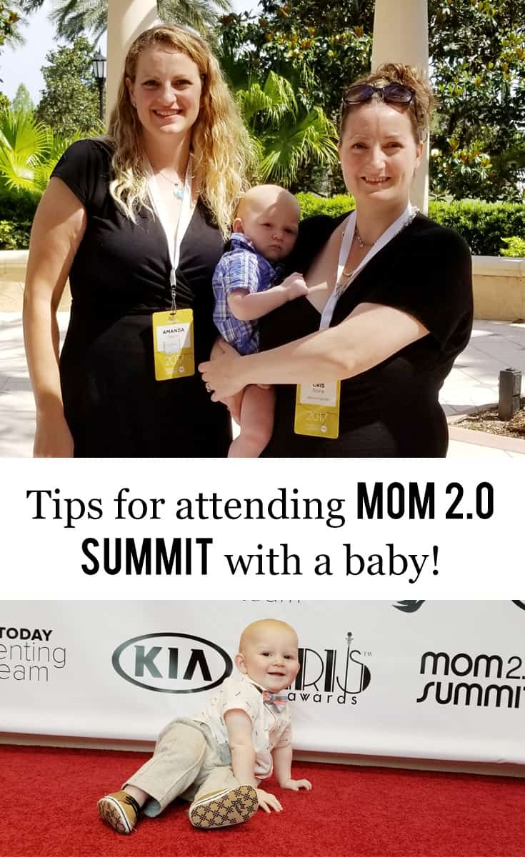 Tips for Attending Mom 2.0 Summit with a Baby #baby #mom2summit #conference #wahm #workingmom #blogging #bloggermom #blogging #bloggingconference