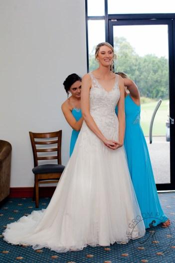 lakelands golf club wedding talia tim kiss the groom-11