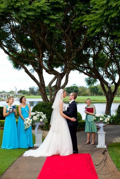 lakelands golf club wedding talia tim kiss the groom-38