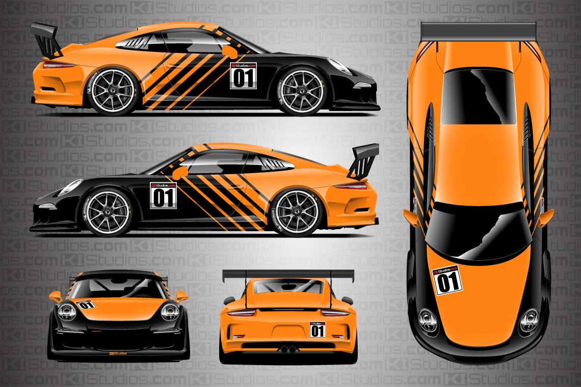 Porsche Racing Livery Wrap Contra KI Studios