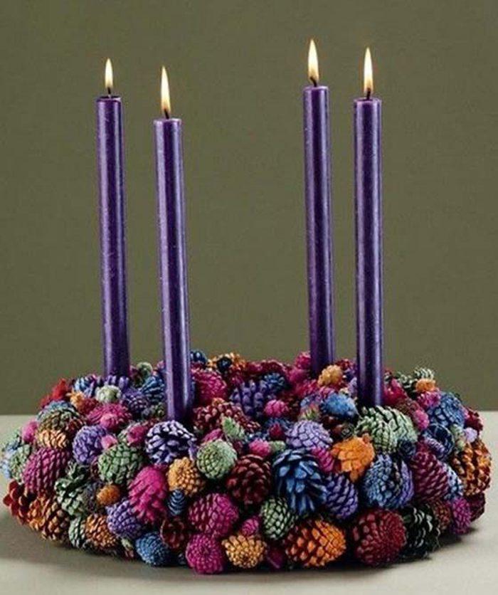 Chandelier du Nouvel An avec vos propres mains: il n'y a pas de goût et de couleur de collègues fidèles