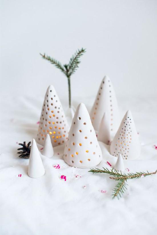 Casquettes pour bougies d'argile polymère