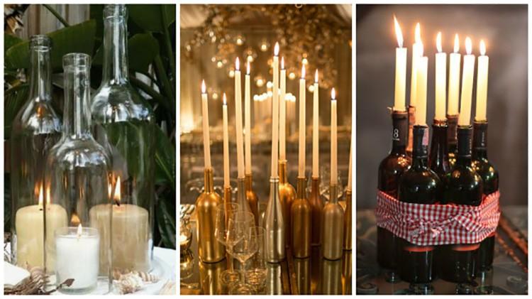 De tels chandeliers peuvent se tenir fièrement sur la table et près de la cheminée.