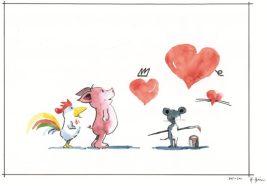 Freunde_wahre Liebe_kleiner: Zur Verfügung gestellt von Helme Heine. Vielen herzlichen Dank dafür von der Kindertagesstätte Mullewapp in Rottenberg