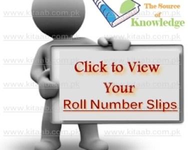 BISEFSD Faisalabad Board Inter 11th 12th Class Roll Number Slips 2017 Download FA/FSc