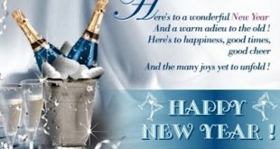 New Year Celebration SMS Greetings Cards