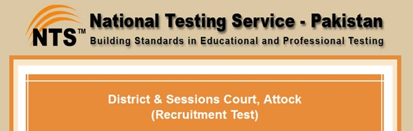 District & Sessions Court Attock Jobs 2015 NTS Test Result Answer Key