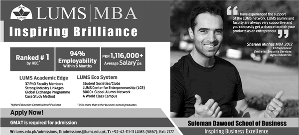 Lums University Lahore Admission 2017 MBA BBA Dates and Schedule Fee Structure