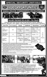 SSU Sindh Karachi Police Jobs NTS Test 2015 Commandos and Constable Eligibility Criteria Selected Candidates List