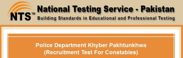 KPK Police Constable Jobs NTS Physical Test Schedule Roll Number Slips & Result 2015