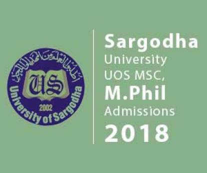 University Of Sargodha UOS Admission 2019 Bachelors Masters Dates and Schedule Form Download