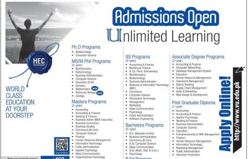 Virtual University VU Admission 2018 Schedule Online Application Form