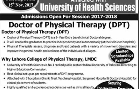 Lahore Medical & Dental College LMDC Admission 2018 Eligibility Criteria Form Download