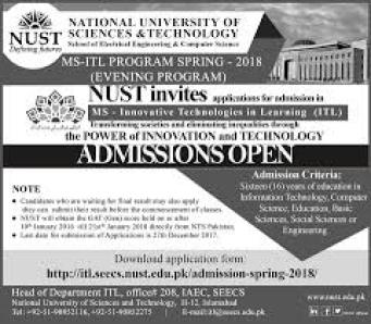 National University of Science and Technology Rawalpindi Admission 2018 Fee Structure Dates Prospectus