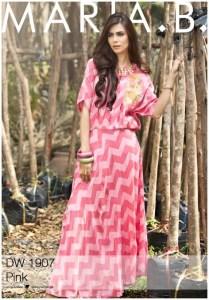 Ladies Designer Maria.B Suite Kameez Kurti Shalwar Lawn Fashionable Dresses Collection 2016