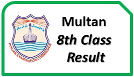 Multan Board PEC 8th Class Result 2021 Vehari Khanewal Lodhran