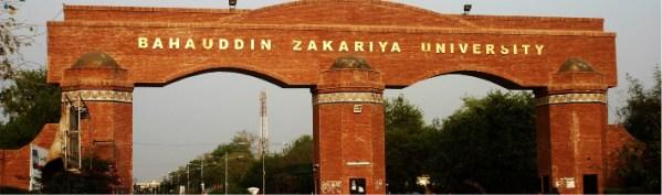 Bahauddin Zakariya University BZU Admission 2020 Distance Learning Programs Apply Online