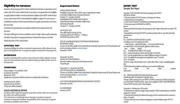 Karachi University BA BSc Admission Notice Registration Schedule 2017 UOK Eligibility Criteria Form Last Date
