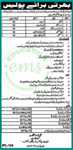 Elite Police Training School Jobs 2017 NTS Recruitment Test Answer Key Result Merit List