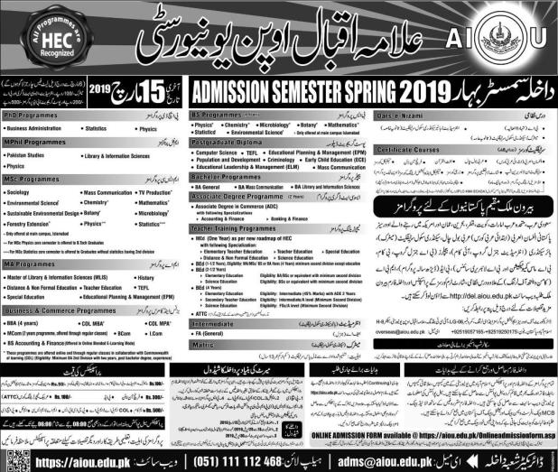 LCWU Lahore College For Women University Admission 2019 Application Form