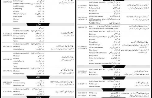 Punjab Skills Development Fund PSDF Free Courses 2017 Last Date Application Form