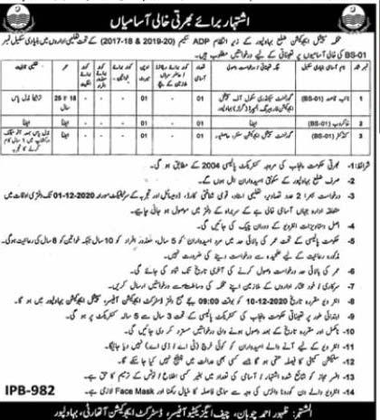 Special Education Department Punjab Jobs 2020 Last Date Application Form