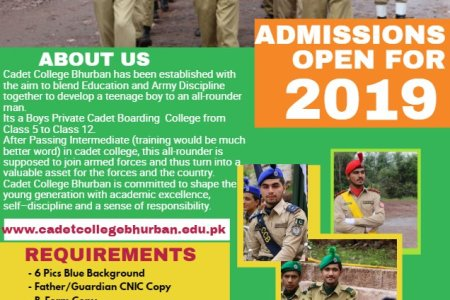Cadet College Bhurban Murree Admission