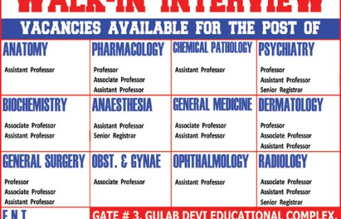 Al Aleem Medical College Lahore jobs 2018 Information Schedule Details
