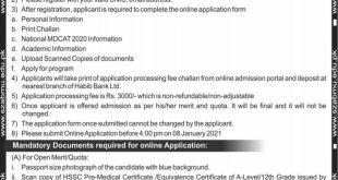 SZABMU Admission Entry Test 2021 Admit Card / Roll Number Slips For Undergraduate/Postgraduate Programs Zulfiqar Ali Bhutto Medical University Islamabad