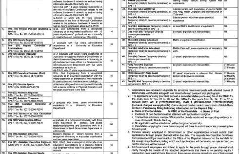 Cholistan University Of Veterinary CUVAS Bahawalpur Jobs 2018