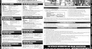 Join Pakistan Air Force PAF Permanent Commission SPSSC 2021 Online Apply Form