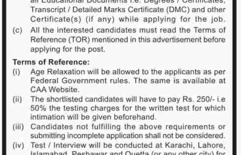 Pakistan Civil Aviation Authority CAA Jobs 2018 Application Download Eligibility Criteria