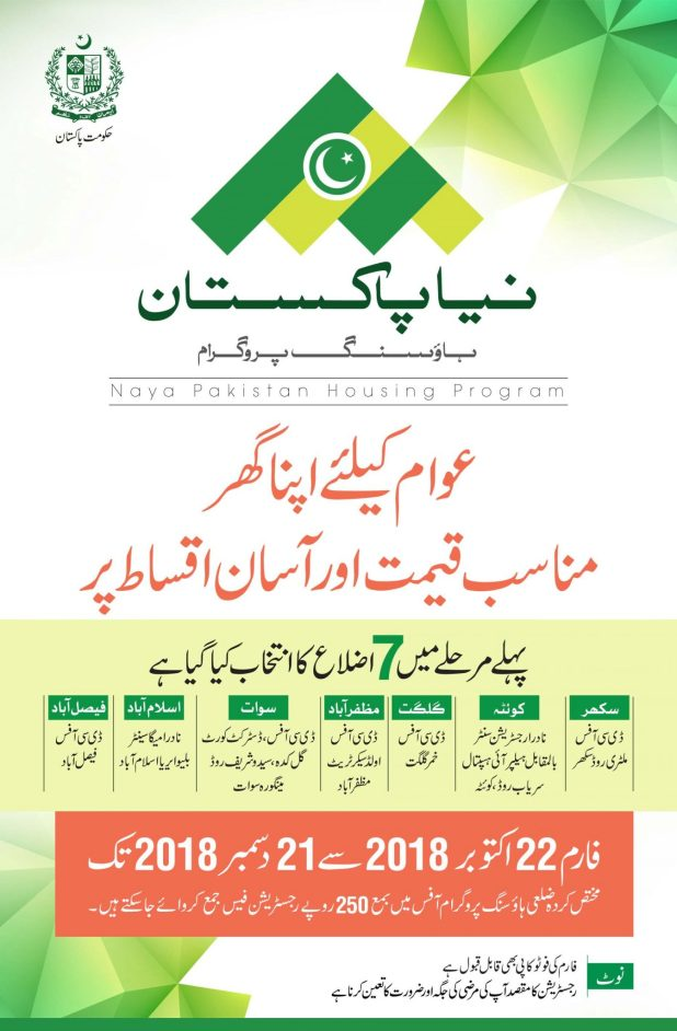 How to Apply PM Apna Ghar Housing Program 2018 Registration Form Issued For 7 Districts Last Date