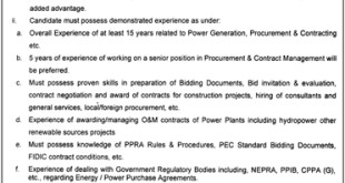 Punjab Energy Department Lahore Jobs 2021 Eligibility Criteria and Qualification Required