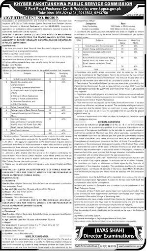 KPPSC Traffic Police Warden and ASI Jobs 2019 Online Application Form Eligibility criteria Last Date
