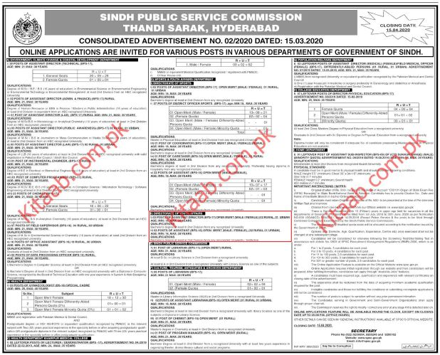 Directorate of Youth Affairs SPSC jobs 2020 Online Registration Eligibility Criteria