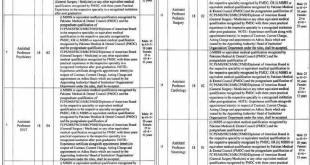Rawalpindi Medical University & Allied Hospitals RMU Jobs 2021 Online Apply Eligibility Criteria
