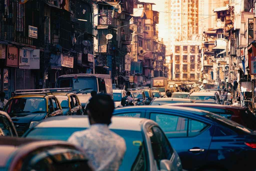 light city cars crossroad