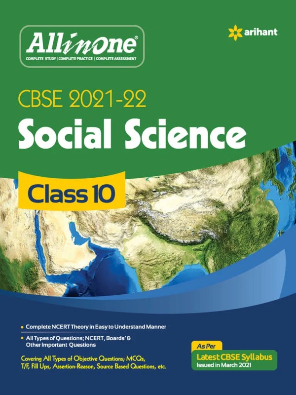 Arihant All In One Social Science Class-10 CBSE 21-22