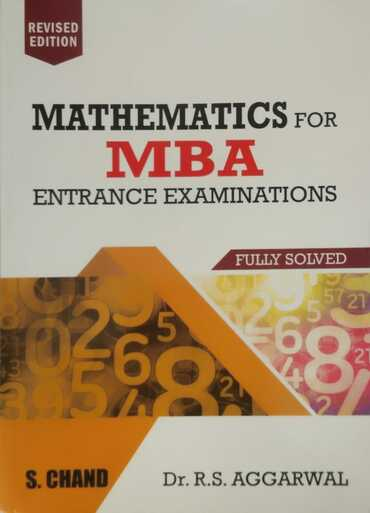 Schand Mathematics for MBA : RS Aggarwal