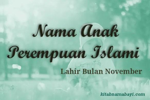 nama anak perempuan islami bulan november