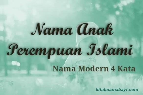 Nama Anak Perempuan Islami Modern 4 Kata