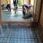 「土蔵の家」基礎工事