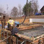 「森の見える家」コンクリート打設