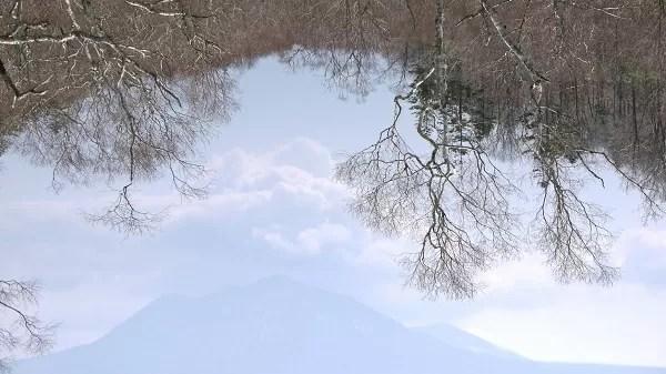 鏡面の支笏湖